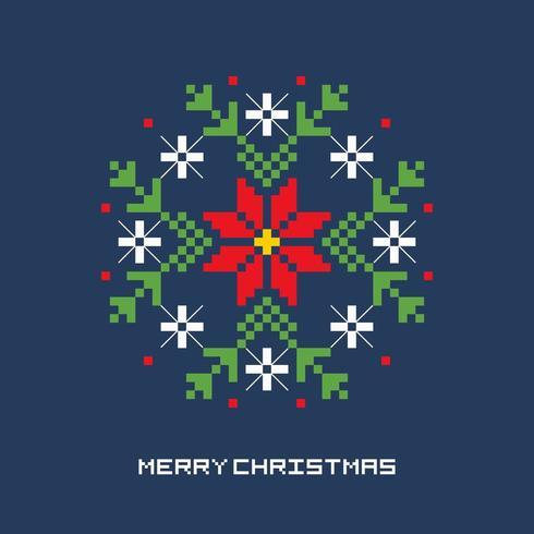 Pixel Art Fiore di Natale
