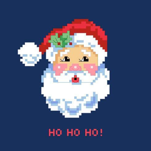 Pixel Art Ritratto di Babbo Natale