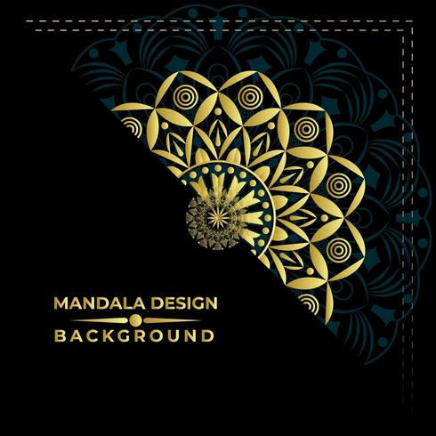 Mandala Background Vector Design piacevole