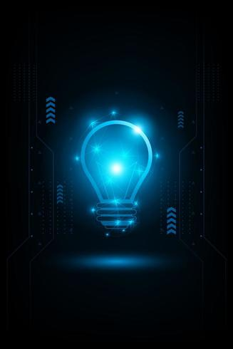 Abstract futuristic light concept vector