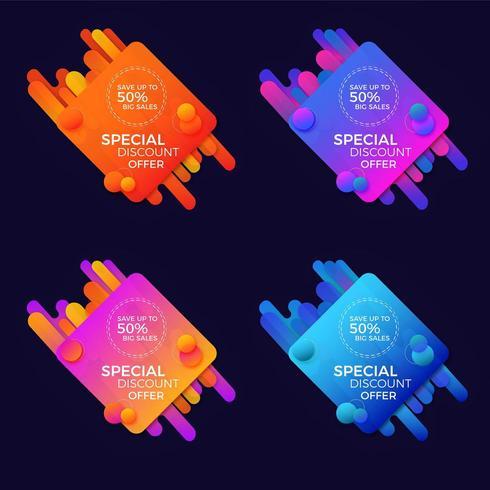 Specialerbjudande klistermärke vektor