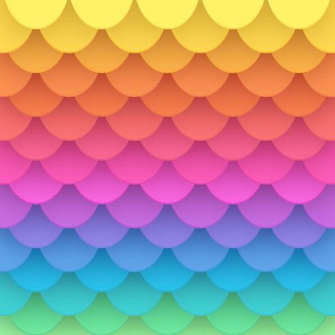 Fondo di vettore della squama della carta dell'arcobaleno 3D