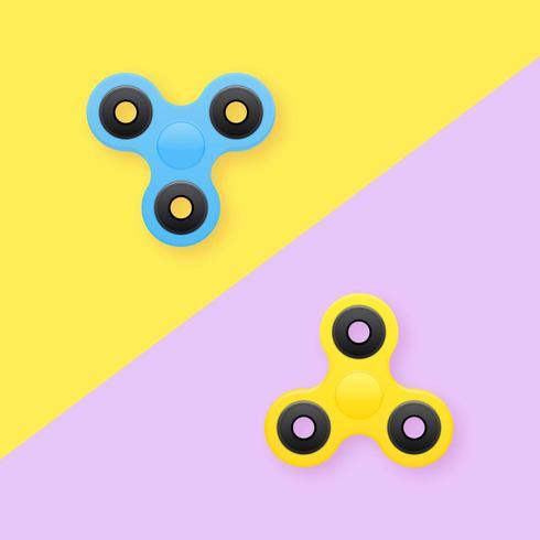 Fidget Spinners Pop Bakgrund vektor