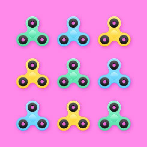 Trendy Fidget Spinners Pop Sfondo