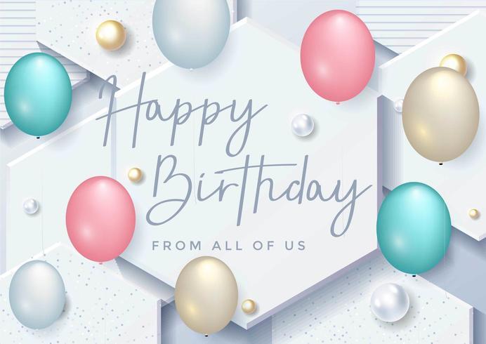 Typografidesign för lycklig födelsedag för gratulationskort vektor