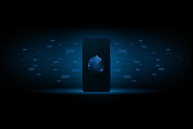 Smartphoneanslutning av data för framtiden vektor