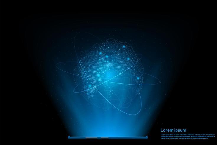 Smartphone global anslutningskoncept vektor