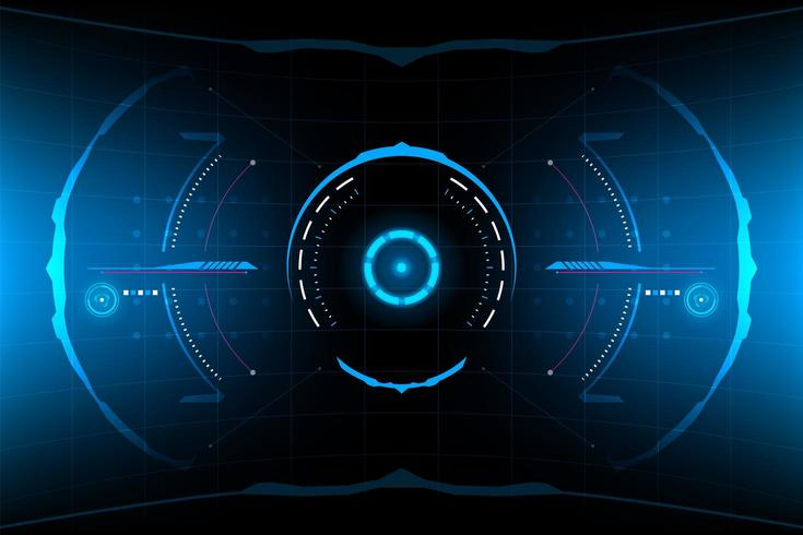Abstract futuristic round HUD vector