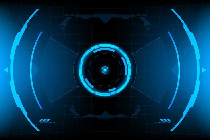HUD-panel VR Användargränssnitt vektor