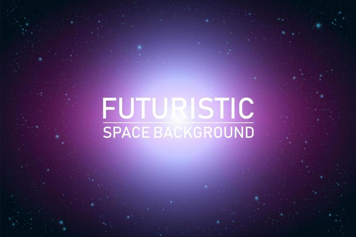 Abstract futuristic space perspective vector