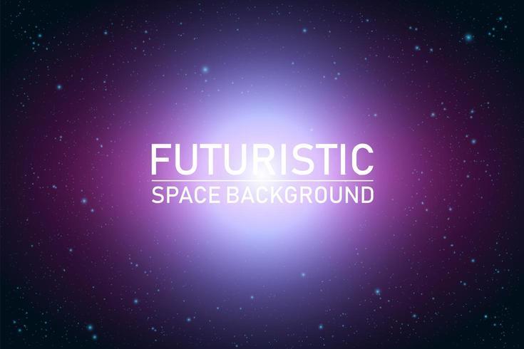 Prospettiva futuristica astratta dello spazio
