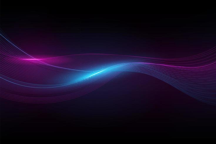 Abstrakte Spektrumwelle vektor