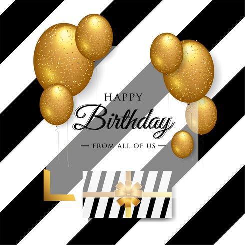 Diseño de tipografía de celebración de feliz cumpleaños para tarjeta de felicitación, póster o pancarta vector