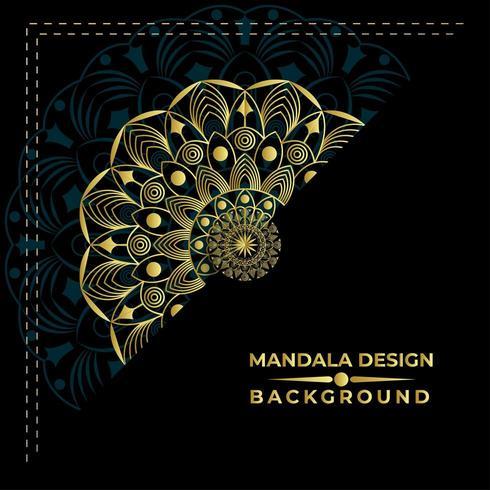 Goldenes Mandalahintergrund Design vektor