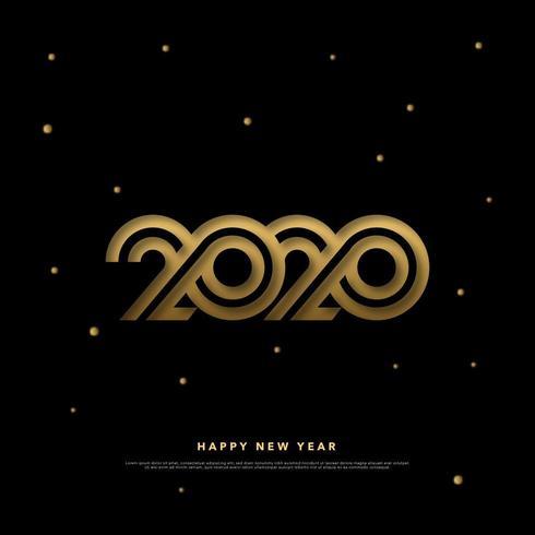 Happy New Year 2020 Cut Paper Design  vector
