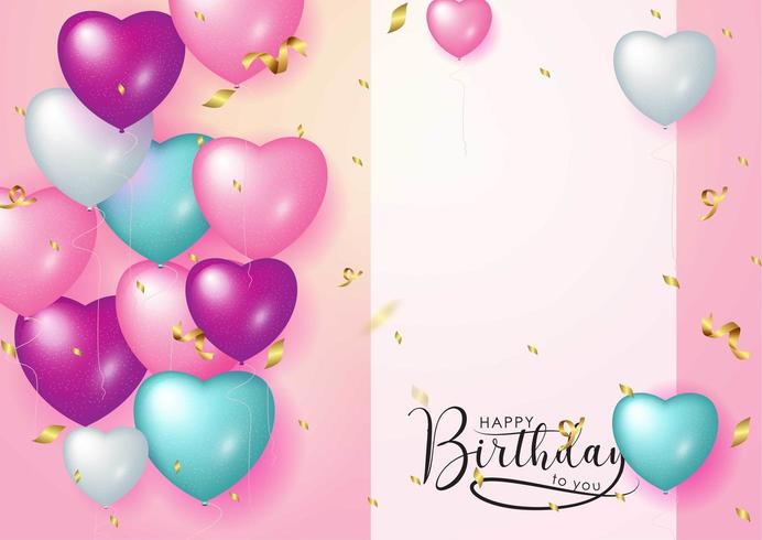 Happy Birthday celebration typography design for greeting card vector