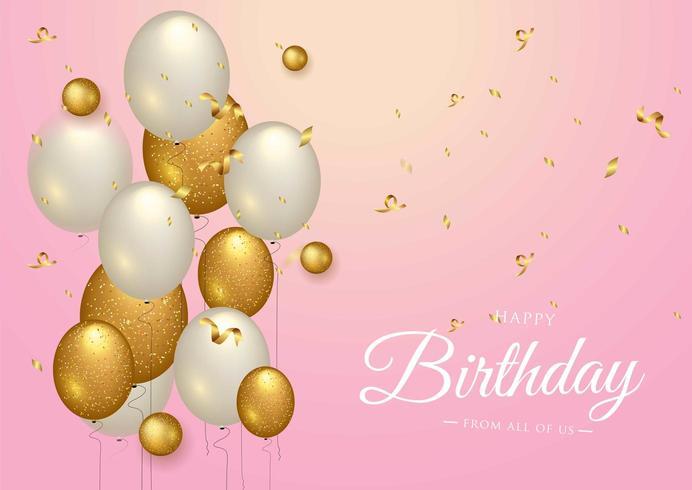 Diseño de tipografía de celebración de feliz cumpleaños para tarjeta de felicitación vector
