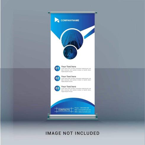 Business roll up banner vector