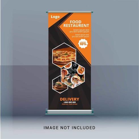 Restaurant Roll Up Banner vector