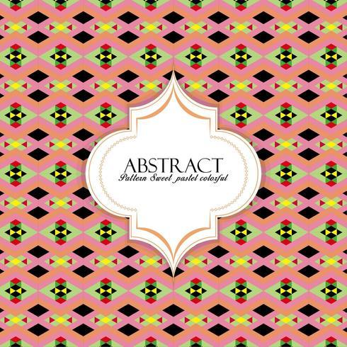 Söt pastellfärgad mönster vektor