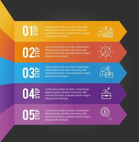 business infographic data plan information vector