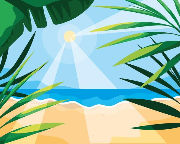 Summer and tropical leaves design vector