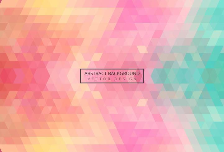 Abstract triangle pattern colorful vintage background vector