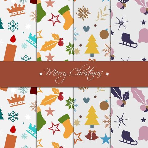 Collezione di carta con motivo natalizio
