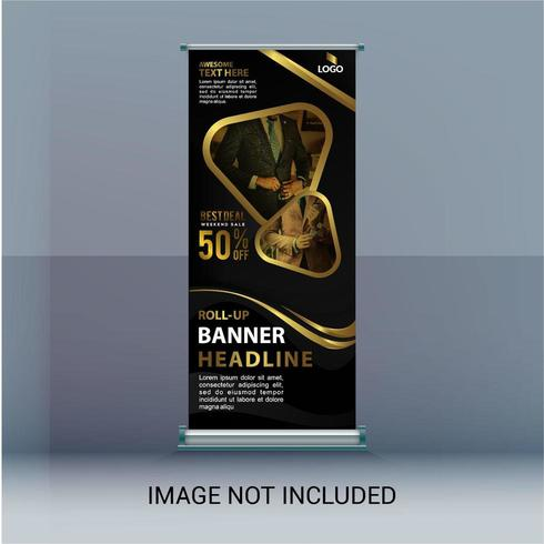 Roll Up Gold Sale Banner vector