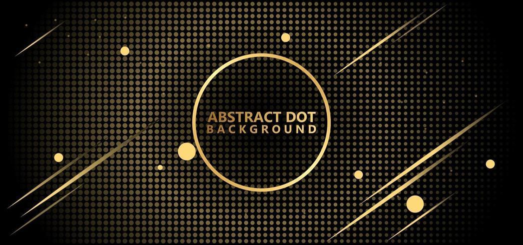 Beautiful Gold Abstract Polka Dots Pattern
