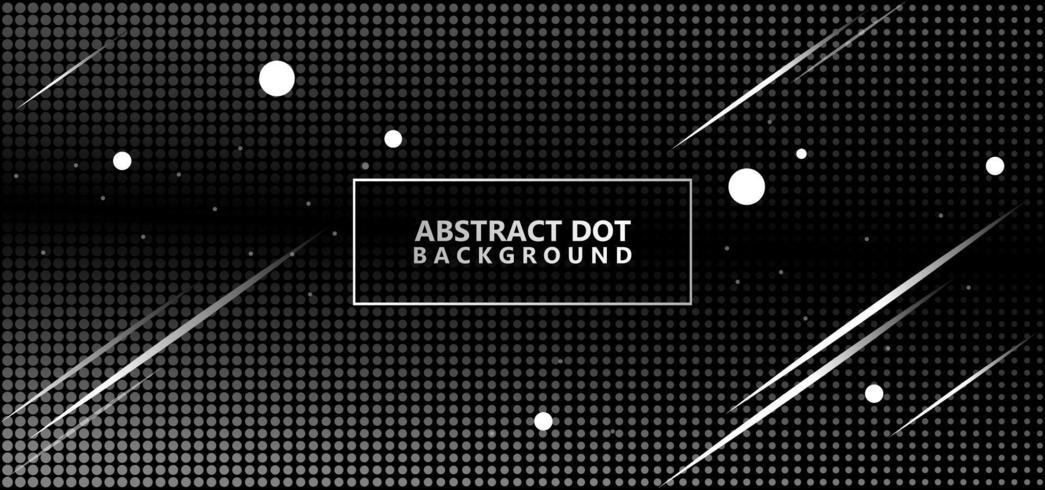 Silver Abstract Polka Dots Pattern