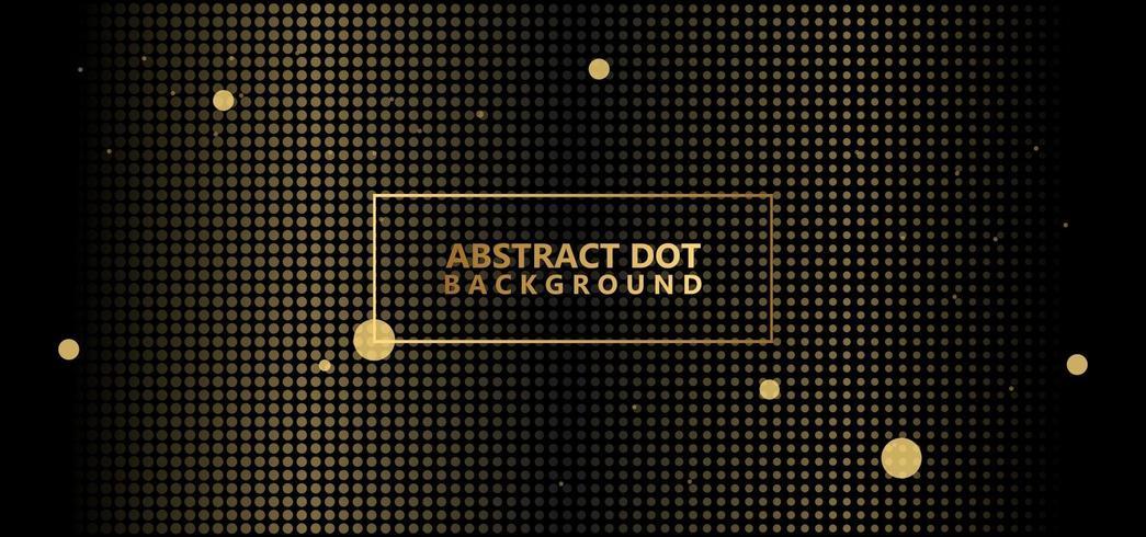 Abstrakt prickmönster för guld vektor
