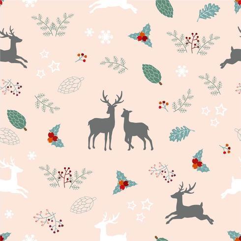 Modello senza cuciture di vacanze di Natale con la famiglia dei cervi
