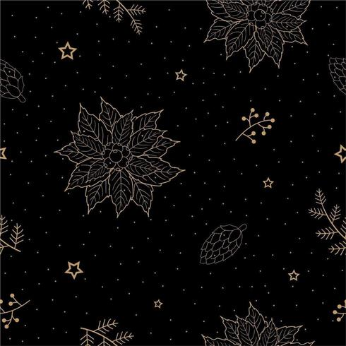 Decorative Christmas winter holiday pattern  vector