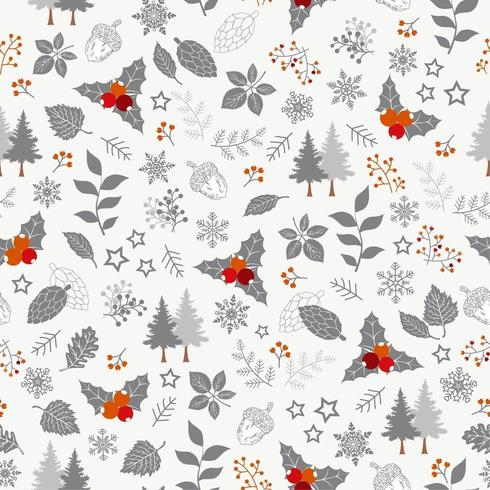 Winter holiday seamless pattern vector