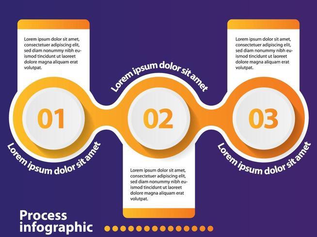 3 steps timeline infographic design element and number options. vector