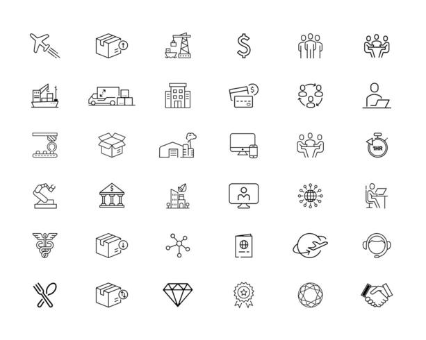 36 mixed business icon set vector
