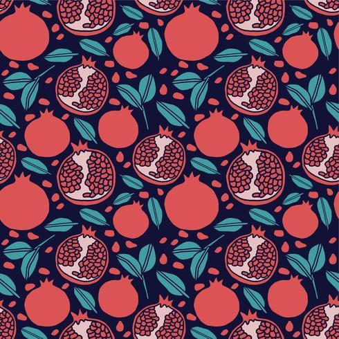 melograno frutto seamless pattern di sfondo