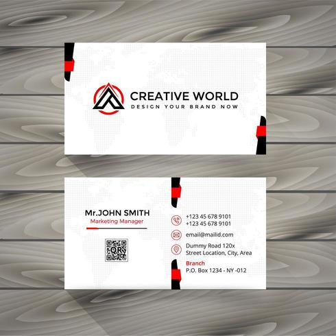 Creative Red and Black Business Card vector