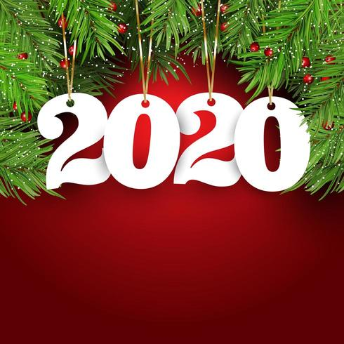 Felice anno nuovo sfondo con numeri appesi