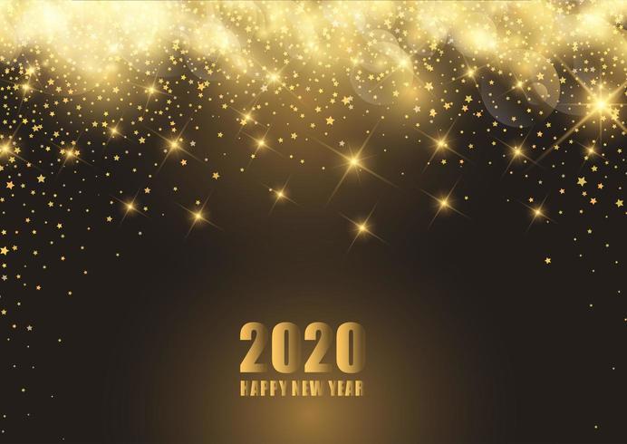 Felice anno nuovo sfondo con design stellato