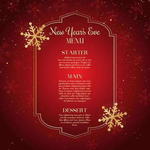 Conception du menu du Nouvel An vecteur
