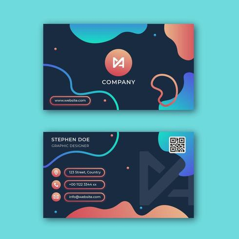 Modern abstract business card template vector