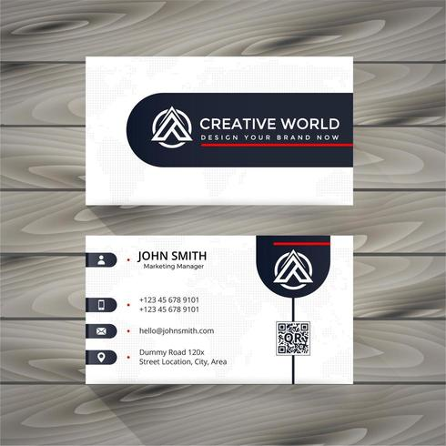 black and white business card design vector