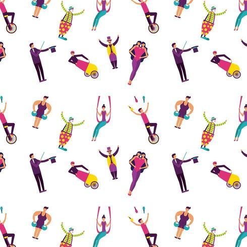 circus fun fair pattern background vector