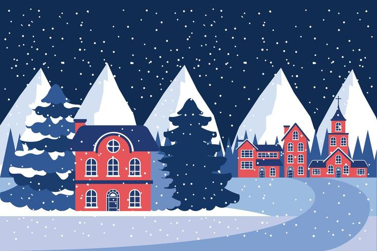 winter vacations christmas vector