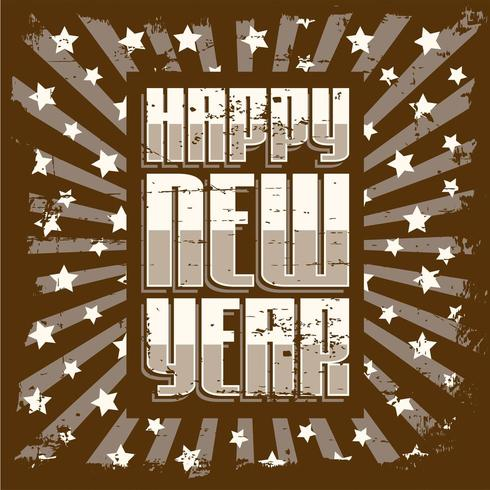 Happy New Year Vintage Signage Poster Rustic  vector