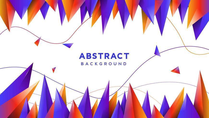 Fondo degradado forma triángulo abstracto vector