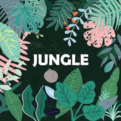 disegno botanico della giungla vettore