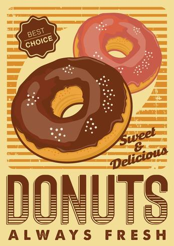 Donuts Signage Poster Rustic  vector